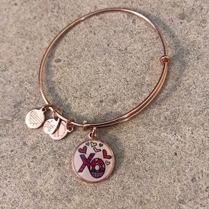 Alex and Ani Rose Gold XO Bracelet